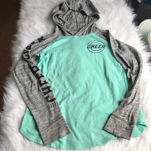 Justice girls longsleeve top size 10 cheer